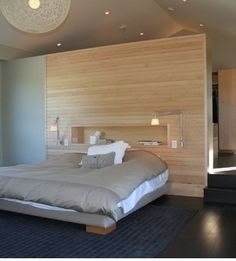 Coolest Wall Behind Bed Master Bedroom Decorating Ideas Modern Master Bedroom Design, Home, Home Bedroom, Bedding Master Bedroom, Modern Master Bedroom, Timber Feature Wall, Modern Bedroom, Bedroom Layouts, Interior Design Bedroom
