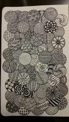 how to draw head Doodle Art Drawing, Zentangle Drawings, Cool Art Drawings, Art Drawings Sketches, Painting & Drawing, Cute Doodle Art, Doodles Zentangles, Drawing Ideas, Zen Doodle Patterns