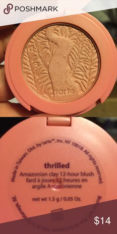 New Tarte Thrilled Amazonian  Clay 12 Hour Blush New Tarte Thrilled Amazonian  Clay 12 Hour Blush tarte Makeup Blush