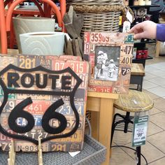 1000 images about route 66 on pinterest license plates route 66 theme and car party. Black Bedroom Furniture Sets. Home Design Ideas