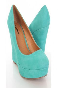 timeless design 19c56 13cd5 Teal Faux Leather Close Toe Platform Wedges  Amiclubwear Wedges Shoes  StoreWedge Shoes,