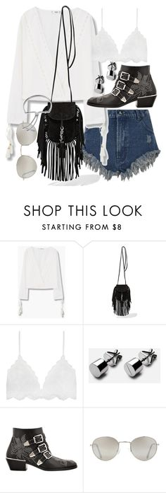 """Untitled #19849"" by florencia95 ❤ liked on Polyvore featuring MANGO, Yves Saint Laurent, Chloé, Forever 21 and Monica Vinader"