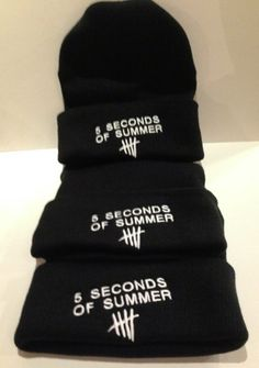 5 Seconds  of Summer  beanie 5 SOS by winteriscoming2012 on Etsy, $23.00