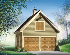 Avec la jolie girouette sur son toit à deux versants, ses détails architecturaux et son espace de rangement, ce garage double avec loft vous ravira. Le rez-de-chaussée, qui comprend deux portes de garage, protégera deux voitures des intempéries. Deux fenêtres situées sur le côté gauche éclairent la pièce et une porte de service située du côté droit vous permet de sortir rapidement. L'étage, accessible par un escalier escamotable, est idéal avec sa grande porte extérieure très pratique pour y…