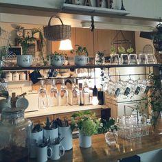 カウンター上棚DIY/グラスぶら下げ/メイソンジャーぶら下げ/アジサイ…などのインテリア実例 - 2015-06-08 10:02:54 | RoomClip(ルームクリップ)