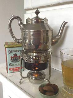 Gorgeous antique art Deco Dutch tea pot and tea warmer