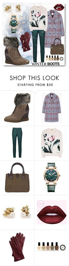 """""""Winter Wonder"""" by looking-for-a-place-to-happen on Polyvore featuring Aquatalia by Marvin K., MANGO, Raoul, Burberry, DUBARRY, Chopard, Ruth Tomlinson, Mark & Graham and Lauren B. Beauty"""