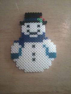 Snowman perler beads by Sara Swope