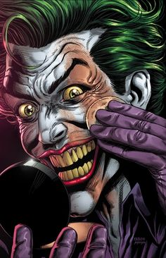 Joker Dc Comics, Joker Comic, Joker Art, Dc Comics Art, Batman Art, Marvel Art, Comic Art, Comic Books, Batman And Batgirl