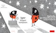 Een digibordles 'Kritisch luisteren' bij Igor Stippelkampioen. Gemaakt in opdracht van uitgeverij Clavis.