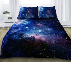 Blue galaxy bedding set galaxy duvet cover with by VividView