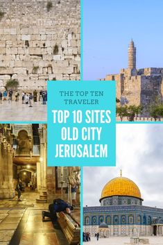 Top 10 sites in the Old City of Jerusalem - The Top Ten Traveler top 10 sites in the old city of Jerusalem, old town Jerusalem, what to see in jerusalem, jerusalem attractions, things to see in jerusalem #Jerusalem #Oldcity #israel #TheTopTenTraveler Beautiful Places To Visit, Amazing Places, Eastern Travel, Places To Travel, Travel Destinations, Travel Advise, International Travel Tips, Israel Travel, Ultimate Travel