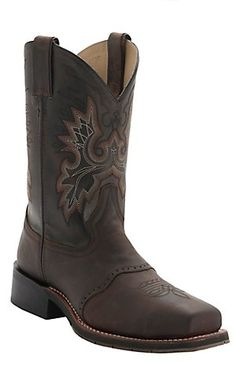 Double H ICE Collection Men's Brown Dark Oil Steel Square Toe Work Boots