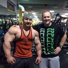 Flex Lewis and Trainer Neil