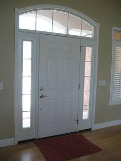 white front door