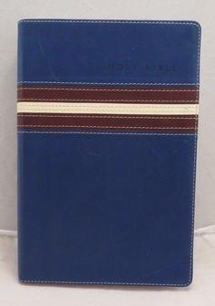Holy Bible Zondervan KJV Gift Award Bible Red Letter 2002 Blue Brown Color