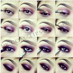 Purple makeup tuto... Homecoming makeup for me?