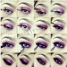 Purple makeup tuto