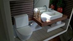 Quadro de banheiro moderno com led