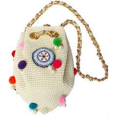 "Bolso ""Budha Bolson"" étnico de crochet en color beige de Toscana Pulseras"