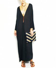 Summer evening look.  I would live in this. Sophia Moroccan Long Caftan by Nude is Rude.