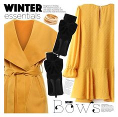 """Bright yellow"" by vanjazivadinovic ❤ liked on Polyvore featuring Yves Saint Laurent, Kenneth Jay Lane, polyvoreeditorial and zaful"
