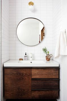 Looking for small bathroom ideas? Take a look at our best small bathroom design ideas to inspire you before you start redecorating your small Wood Bathroom, Bathroom Renos, Laundry In Bathroom, Bathroom Interior, Bathroom Vanities, Bathroom Ideas, Bathroom Lighting, Remodel Bathroom, Bathroom Designs