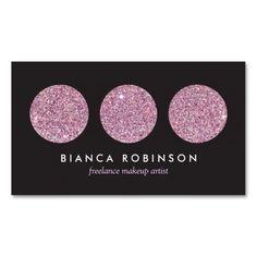 310 best freelancer business cards images on pinterest business pink glitter palette for freelance makeup artist business card cheaphphosting Images