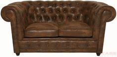 Sofa Oxford 2-Sitzer Vintage Eco