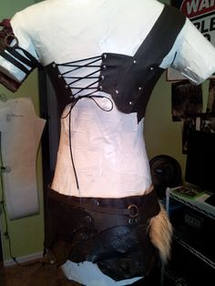 Simple, cheap and easy leather armor tutorial. Great for role playing, cosplay or the Renaissance Festival.