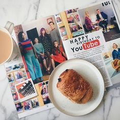 Having a cheeky pain au chocolat while reading @theststyle tech issue! Spot me if you can! ✨