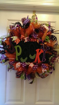 Hey, I found this really awesome Etsy listing at https://www.etsy.com/listing/202644264/halloween-deco-mesh-wreath