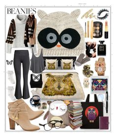 """Beanie"" by angelihenkle ❤ liked on Polyvore featuring ASOS, Kess InHouse, CoCalo, Betsey Johnson, Fantasy Jewelry Box, Raquel Allegra, Burberry, White House Black Market, RVCA and Agent Provocateur"
