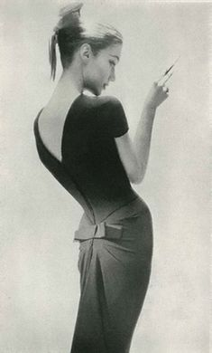 Photograph by Lillian Bassman for Harper's Bazaar, 1956 by SnoozMooz