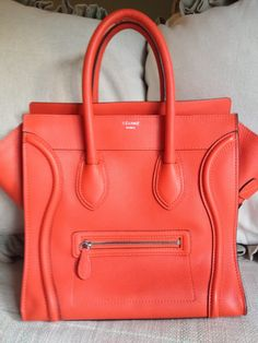 this salmon colour is stunning. #bagporn #celine