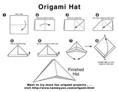 origami hat instructions More