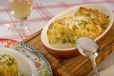Brandade vom Kabeljau – Herzhaftes Püree von Fenchel, Sellerie und Kartoffeln, mit Kabeljaufilet geschichtet, mit Grana Padano gratiniert