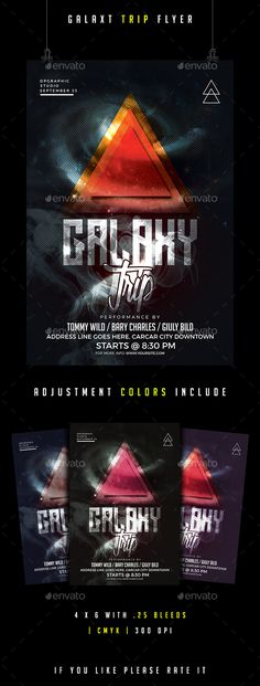 Galaxy Trip Flyer  — PSD Template • Only available here ➝…