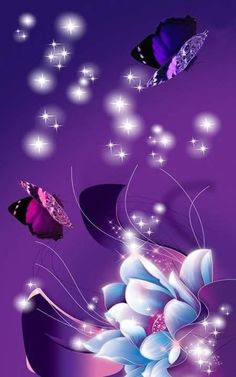 Background Pictures For Phone, Flower Background Wallpaper, Flower Phone Wallpaper, Wallpaper Iphone Cute, Wallpaper Backgrounds, Phone Wallpapers, Purple Butterfly Wallpaper, Bling Wallpaper, Butterfly Art