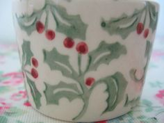 EMMA BRIDGEWATER HOLLY SPRIG SMALL FILLED CANDLE POT in Pottery, Porcelain & Glass, Pottery, Bridgewater | eBay