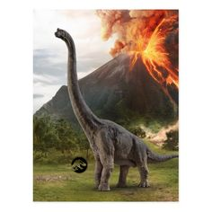 Jurassic World Brachiosaurus Postcard Jurassic World Movie, Jurassic Park Party, Jurassic World Dinosaurs, Prehistoric Dinosaurs, Jurassic World Fallen Kingdom, Prehistoric Creatures, Godzilla, Dinosaur Art, Dinosaur Crafts