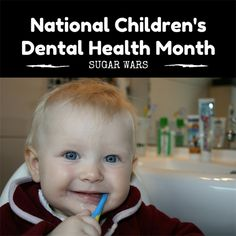 February is Children's Dental Health Month. The best time to begin teaching your child about the importance of oral health is when their first teeth come in. Set your child up for a healthy smile and solid habits! #dentistry