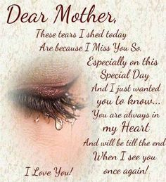 Mom In Heaven Quotes, Mother's Day In Heaven, Mother In Heaven, Missing Mom In Heaven, Heaven Poems, Loved One In Heaven, Loss Of Mother Quotes, Mother Daughter Quotes, Mothers Day Quotes