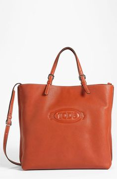 Tod's 'Logo Media Bag' Leather Shopper available at #Nordstrom
