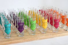 Bridesmaid shot glasses in an assortment of by JudiPaintedit, $10.00