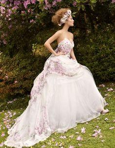 A beautiful summer wedding dress.