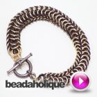 How to Make a Chain Bracelet Using the Roundmaille Weave | Beadaholique
