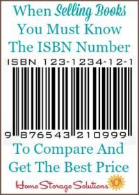 When selling books you must know the ISBN number {plus the top 10 places to sell books for cash when decluttering} {on Home Storage Solutions Sell Books For Cash, Sell Used Books Online, Sell Your Books, Sell Your Stuff, Things To Sell, Earn Money From Home, How To Make Money, Ebay Selling Tips, Selling Online
