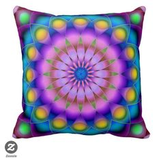 SOLD Pillow Mandala! #zazzle #Pillow #pillows #Mandala #colorful http://www.zazzle.com/pillow_mandala-189737261949432670
