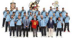 La selección española con Rajoy.